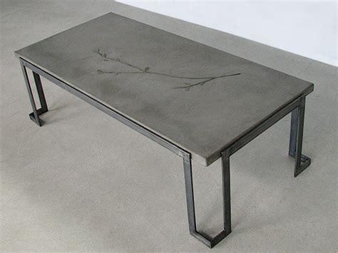 concrete and metal coffee table tables ernsdorf design concrete pit bowls