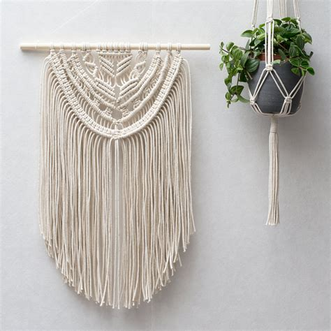 Macrame Plant Hangers Diy - macrame wall hangings plant hangers buy or diy