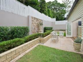 Garden Walls Ideas Landscaped Garden Design Using Grass With Retaining Wall Cubby House Gardens Photo 331210