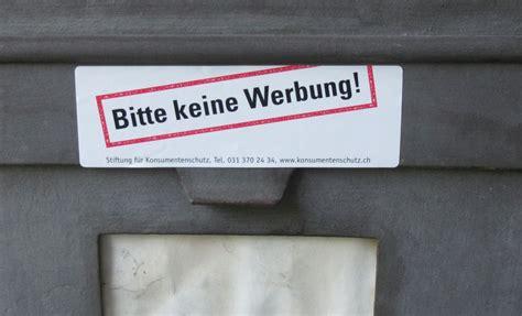 Bitte Keine Werbung Aufkleber Post by Post Bedr 228 Ngt Die Kunden Stiftung F 252 R Konsumentenschutz