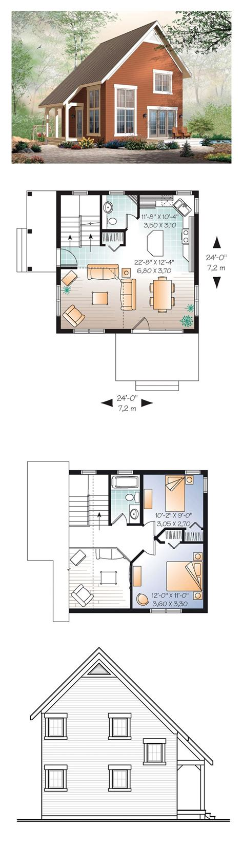 narrow sloping lot house plans single level living narrow lot house plan 76149 total living area 1050 sq ft 2 bedrooms and 1 5 bathrooms