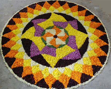 flower design in rangoli onam pookalam designs and wallpapers god s own country
