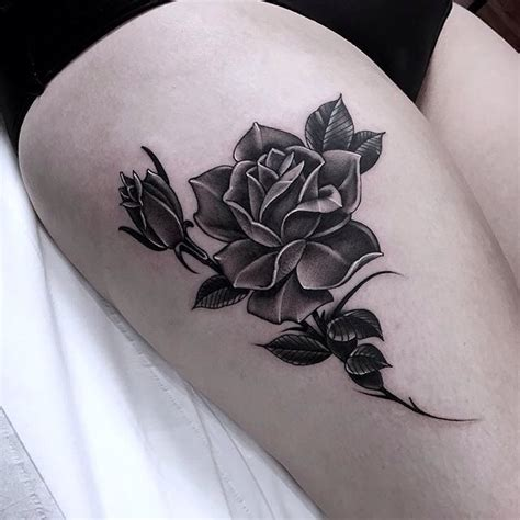 grey and black rose tattoo grey best ideas gallery