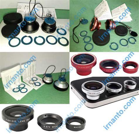 Jual Lensa Hp jual 3in1 lensa portabel wide macro lens dan fisheye lens