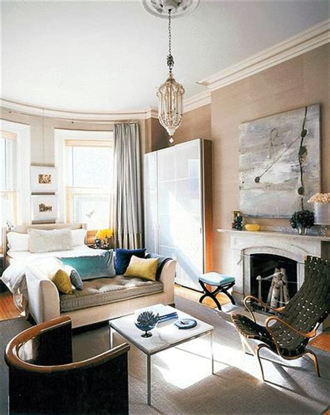 fabulous studio apartment dreamy vintage modern mix luxe fabrics fireplace by frank roop