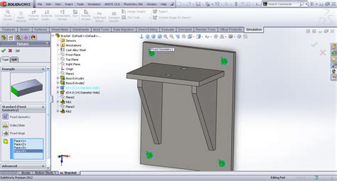 solidworks tutorial how to create a bracket in sheet metal tutorial analysis of bracket in solidworks simulation