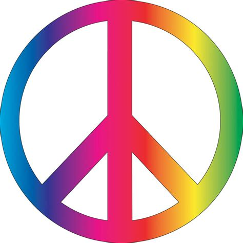 Peace sign in rainbow colors