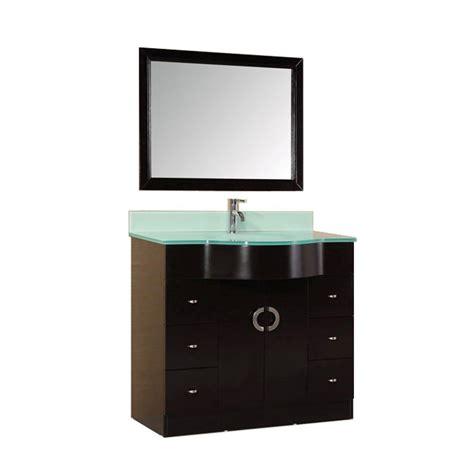 Tempered Glass Mirror design element 40 in w x 22 in d vanity in
