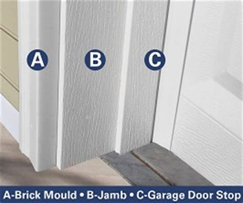 installing garage door trim rot free garage door trim