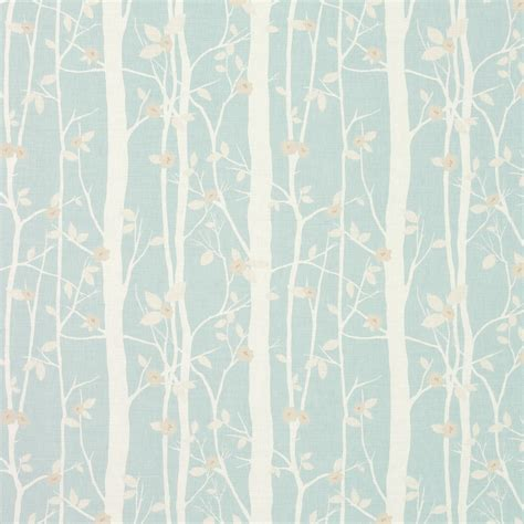 Linen Fabric Curtains Cottonwood Duck Egg Floral Linen Cotton Fabric At