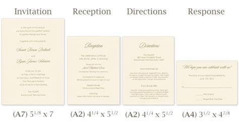Standard Wedding Invitation Size