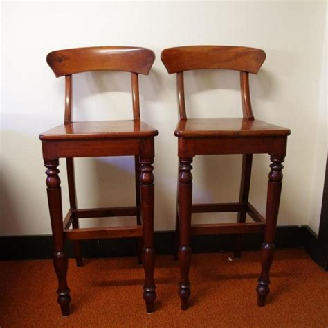 Timber Breakfast Bar Stools by Pair Of Timber Breakfast Bar April Auction Day 2