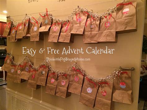Brown Calendar Paper Bag Advent Calendar