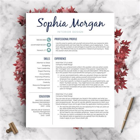 Resume Creative by Creative Resume Template Resume For Word And Pages 1 2