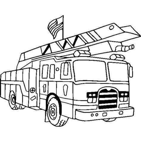 ladder truck coloring page front view of fire truck colouring clipart best