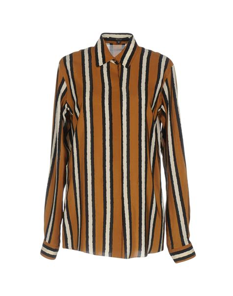 Ff Blouse Gucci 1 gucci shirt in brown lyst