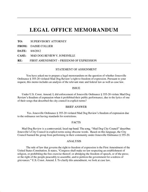 5 legal memo formatreport template document report template