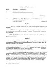 management consulting agreement template consulting agreement template free template design