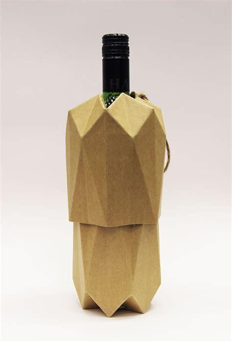 Origami Wine Bottle - eco wine packaging on behance
