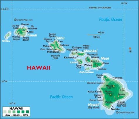 map of hi map of hawaii free printable maps