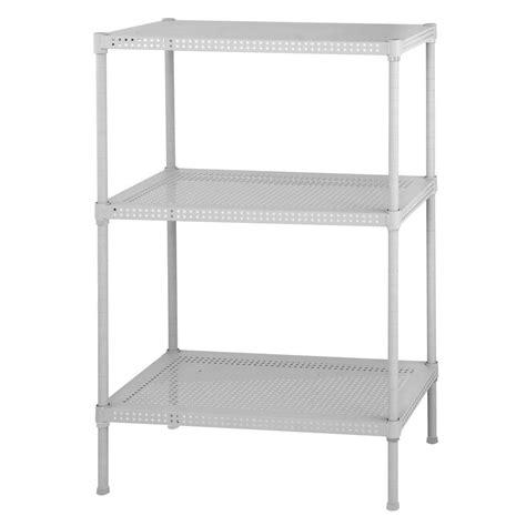 White Garage Shelving by Honey Can Do 3 Shelf 30 In H X 24 In W X 14 In D Steel