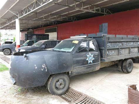 armored jeep after an attack by mexican cartel mexican drug war vigilantes homemade mad max vehicles are