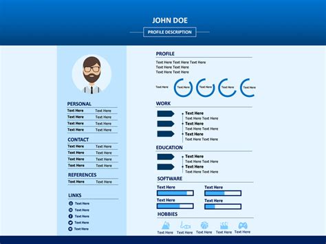 Powerpoint Resume by Professional Resume Powerpoint Template Sketchbubble