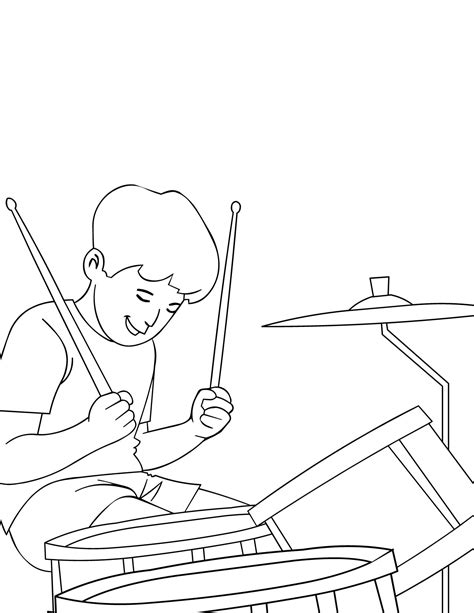 musical instrument coloring book pages free coloring pages of intrument