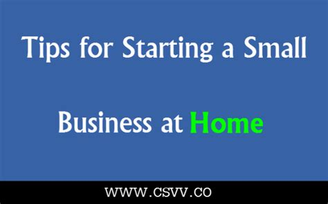 Small Capital Home Based Business Tips For Starting A Small Business At Home