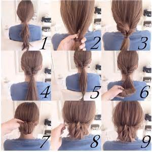 puff hairstyles step by step bun front side twist hair tutorial fun easy hair how to