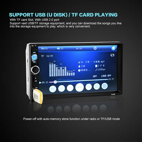 Mp5 Player Audio Car Bluetooth With Gps Canggih 7 inch bluetooth v2 0 car audio stereo touch screen mp5 player support sd usb fm radio