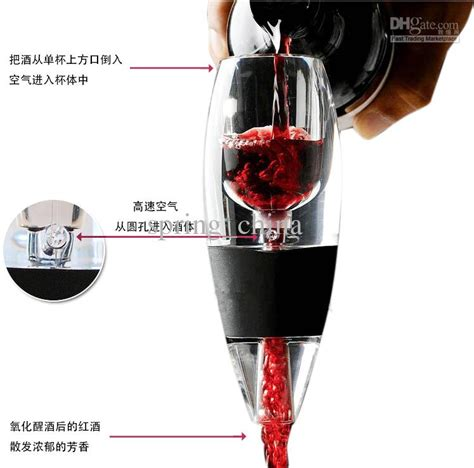 2018 Magic Decanter Red Wine Aerator Fast Wine Decanter With Bag Hopper Set Wine Pourer And