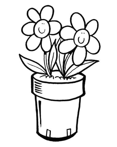 vaso di fiori disegno sta disegno di vaso di fiori da colorare