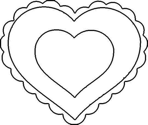 heart template free printable clipart best