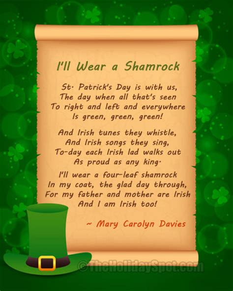 s day verses lyrics poems for st s day