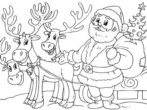 imagenes de santa claus navideños santa claus y sus renos para imprimir paracolorear net