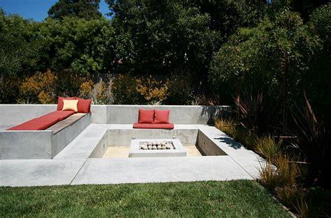 modern pit designs sunken seating areas that spark conversations