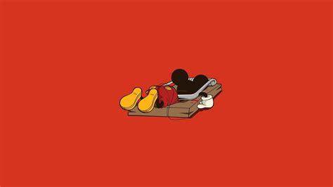 wallpaper cartoon red mickey œuvre de la souris dr 244 le minimaliste rouge papier