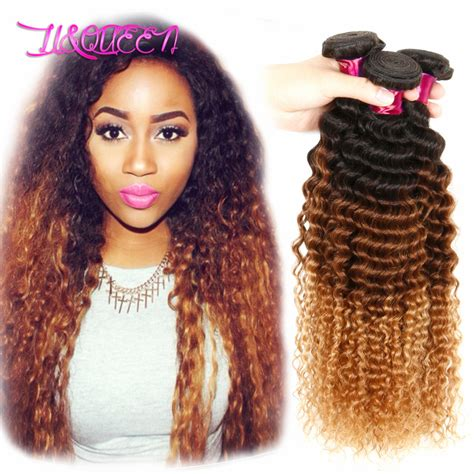 6a ombre extensions brazilian virgin curly ombre