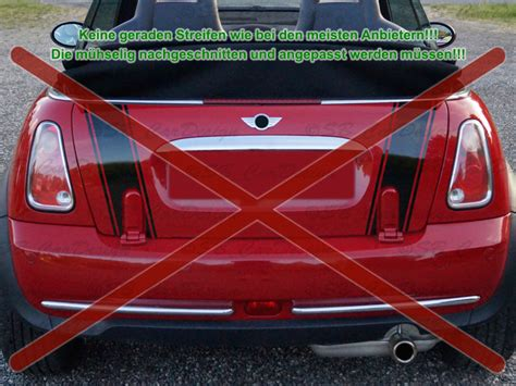 Aufkleber Am Auto Entfernen Ohne Fön streifen boot stripes aufkleber heckklappe f mini cooper