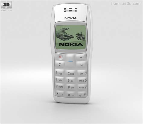 1100 nokia mobile nokia 1100 white 3d model humster3d