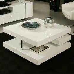 Coffee Table White Gloss Features