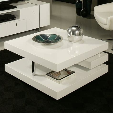 white coffee table features