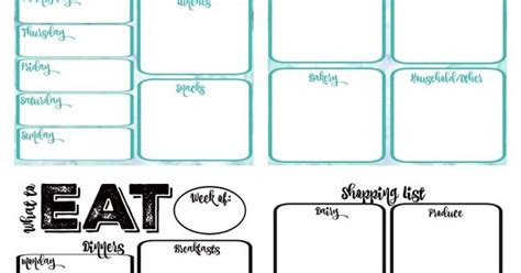 ikea printable shopping list pantry makeover free printable weekly meal planner and