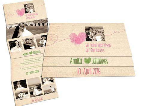 Spezielle Hochzeitseinladungen by Dankeskarten Mit Foto Traditionell Leporello