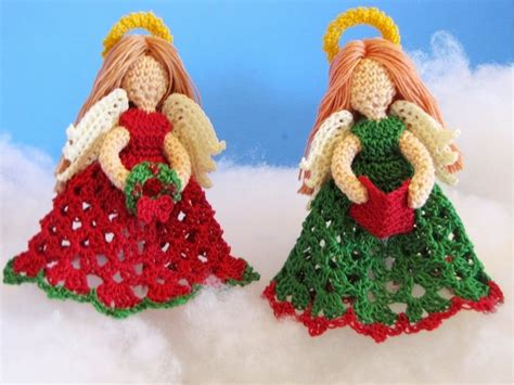 pattern for christmas tree angel bellacrochet the littlest angel christmas ornaments a