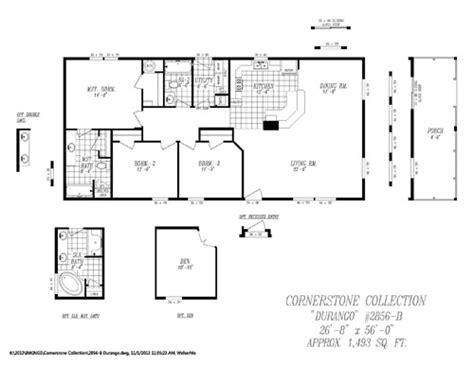 14x60 mobile home floor plans modular home floor plans