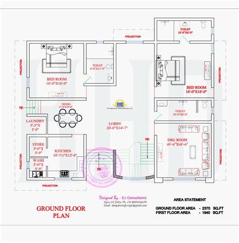 ground floor and first floor plan north indian unique floor plan home kerala plans