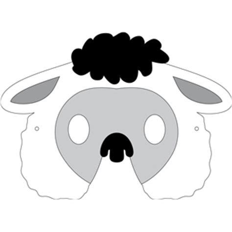 free printable sheep mask template silhouette design store view design 32272 sheep mask