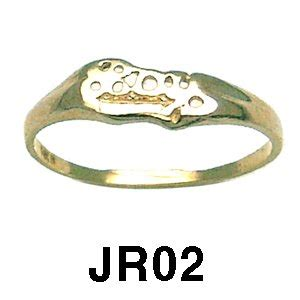 14k yellow gold quot boy quot baby ring jewelry